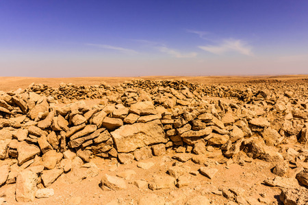 The remnants of the Neolithic grave tomb near Riyadh Stok Fotoğraf