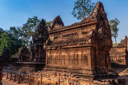 Banteay Srei Temple, Siem Reap, Cambodia Stok Fotoğraf