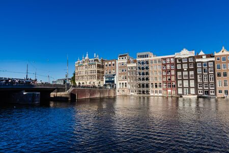 The Damrak bridge and canal, Amsterdam