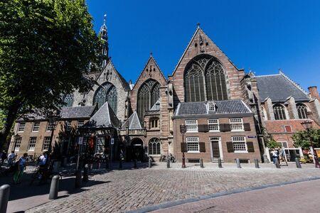 The Oude Kerk (Old Church) in Amsterdam