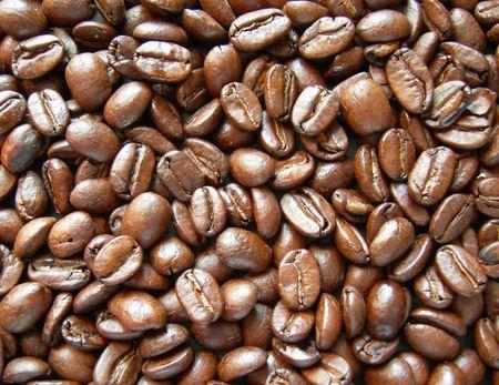 comida colombiana: Los granos de caf� de fondo