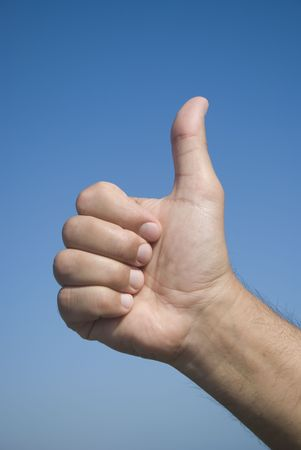 Thumbs up sign  photo