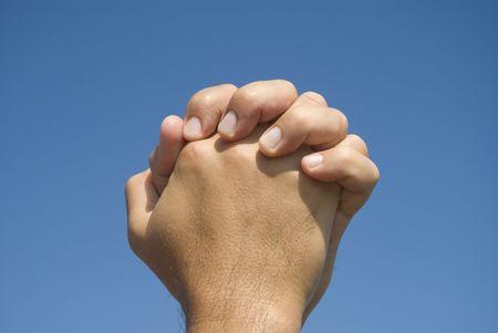 Hands in prayer gesture  Stock Photo - 5369534