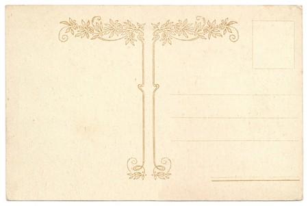 원래 골동품 예술 NOUVEAU 뒷면 엽서 플로랄 스타일 로즈