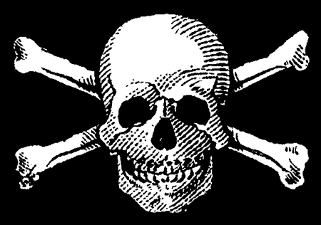 piracy: Skull and Crossbones, Black & White, Poison, Icon, Symbol