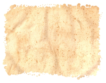 Antique Seventeenth Century PAPER texture isolated on White Background, Particular edges, with space for your design or text.