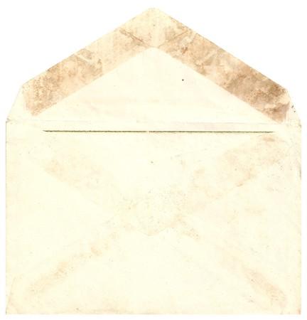 Original Antique back side opened ENVELOPE isolated on White Background