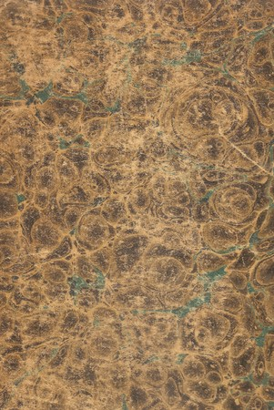 Original Antique worn Marbled Paper Book Cover decoration pattern Stock Photo