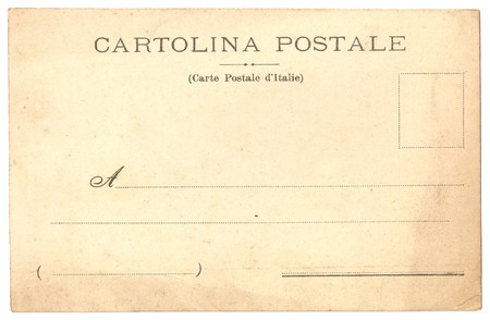 Original Antique Back Side Italy Postcard On Italian And French
