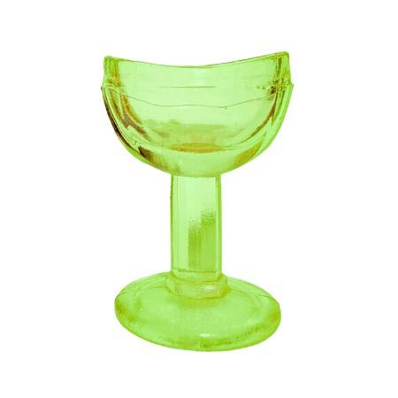 Antique URANIUM COBALT GREEN GLASS EYE WASH - Vintage Old Pharmacy, Medical Care