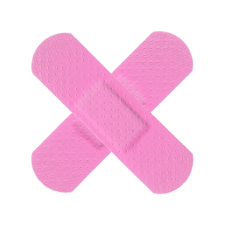 Various PINK Strips of ADHESIVE BANDAGES PLASTER - Medical Equipment