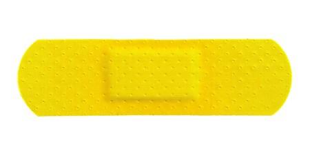 Yellow Strip of ADHESIVE BANDAGE PLASTER - Medical Equipment