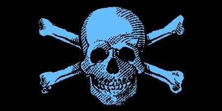 Light Blue Boy Skull and Crossbones