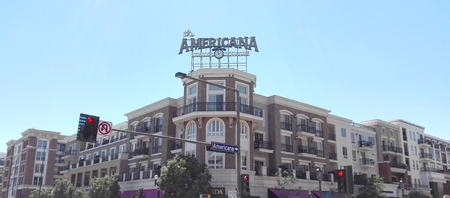 GLENDALE, Los Angeles, California, September 9, 2018: THE AMERICAN AT BRAND, shopping, dining, entertainment and residential complex in Glendale, California