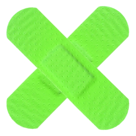 Strips of ADHESIVE BANDAGES PLASTER - UFO Green Color