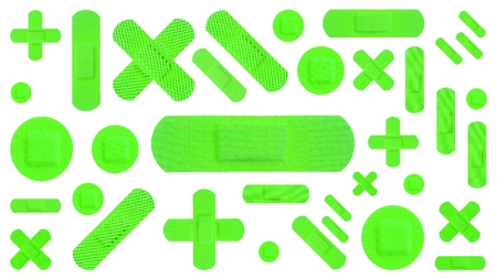 Various Strips of ADHESIVE BANDAGES PLASTER - UFO Green Color