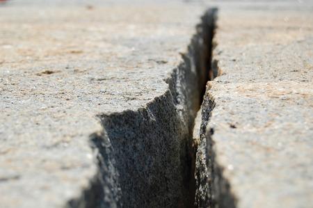 fuchsia color: Crack in the Ground Stock Photo
