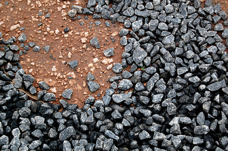 fuchsia color: Top View Stones Ground