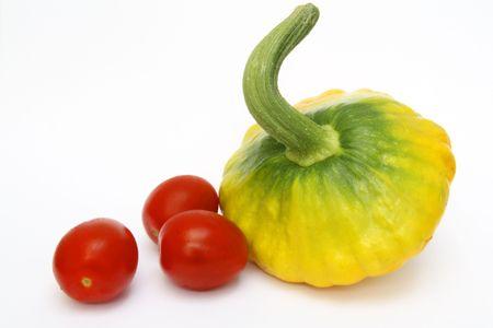Calabaza y Tomates  Foto de archivo - 1117441
