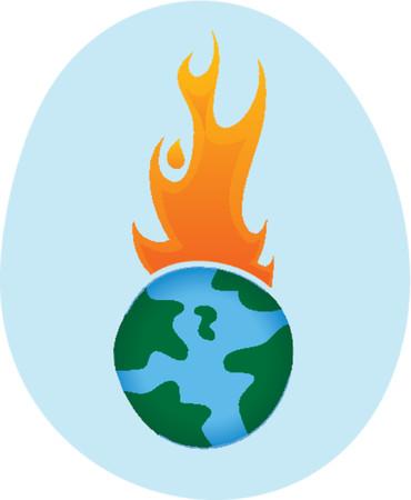 greenhouse effect: Global Warming - Vector Illustration