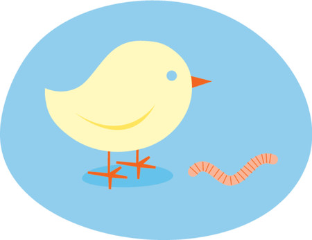 Early Bird Catches The Worm - Illustration Illustration