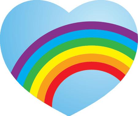 lesbian: Lesbian Rainbow Love Heart