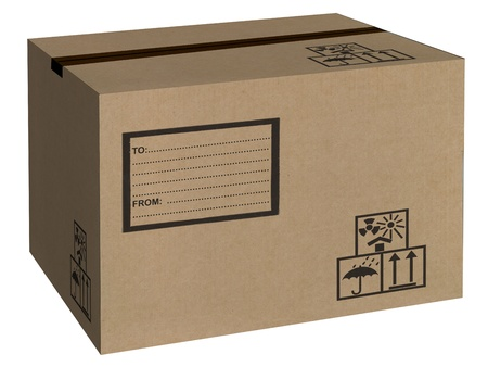 post box: carton box