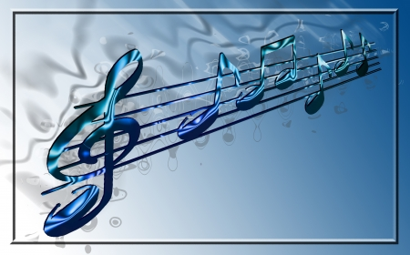 composer: music notes Stock Photo