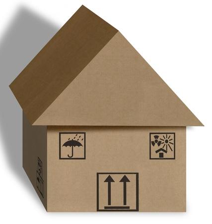 cardboard box home Stock Photo - 13707860