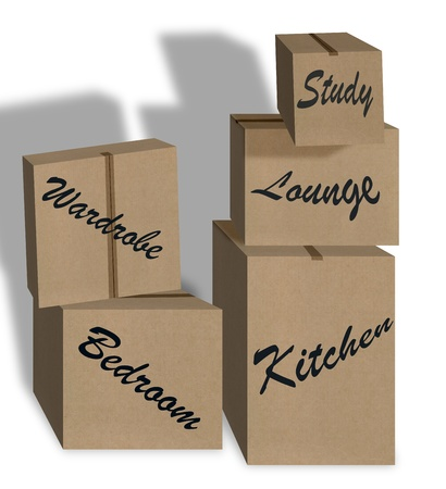 new home boxes Stock Photo - 13750932