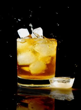 intoxicant: whiskey splash Stock Photo