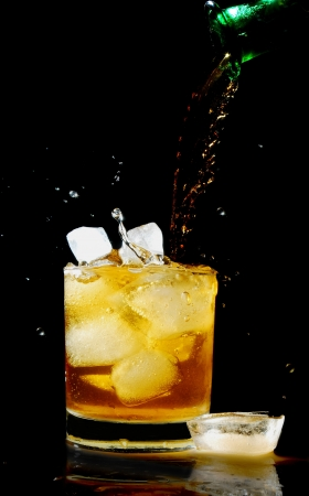 intoxicant: pouring whiskey Stock Photo