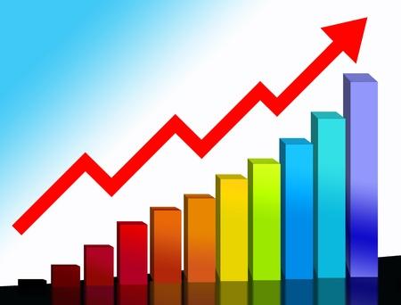 financial chart Banque d'images