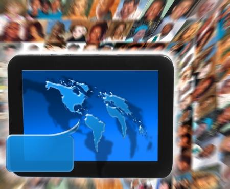 social network and media Stock Photo - 13996607