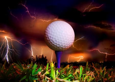 ball lightning: golf ball on tee