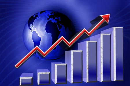 financial graph world business Stock Photo