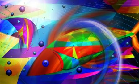 abstract fish art photo