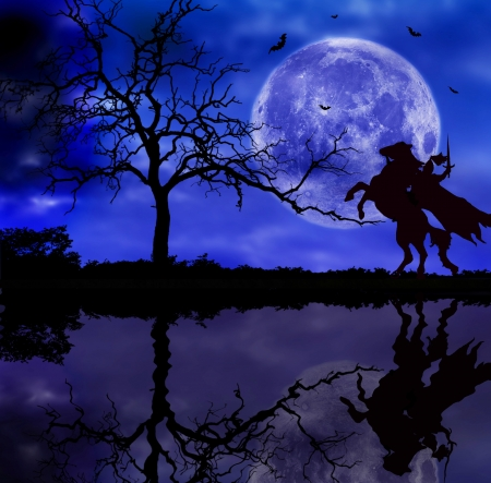 espadas medievales: caballero en el caballo