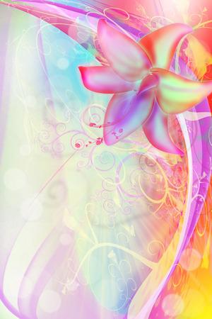 Pink flower illustration