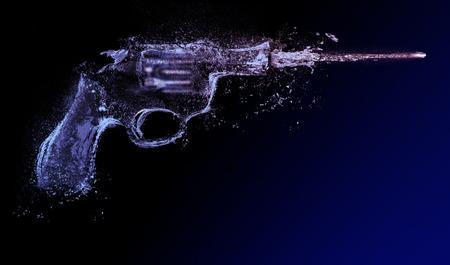 revolver; water gun abstract