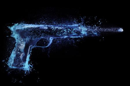 Abstract  Water gun  pistol splash