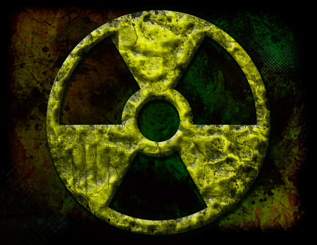 grunge radiation sign Stock Photo