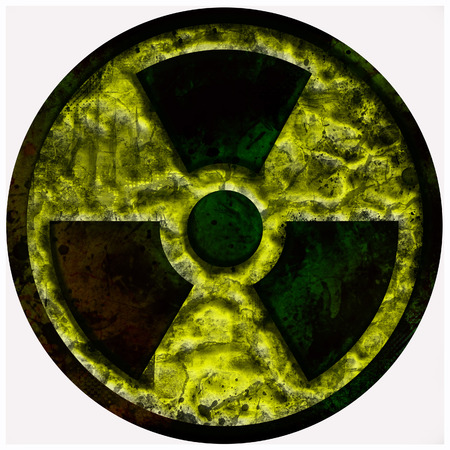 radiation nuclear symbol, sign isolated over white
