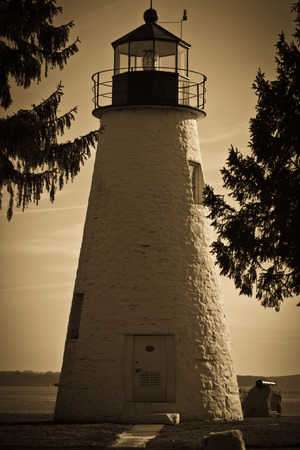 Lighthouse in Monochrome Stok Fotoğraf