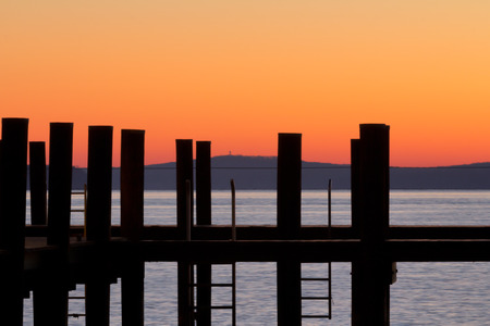waterscapes: Orange glow at the dock