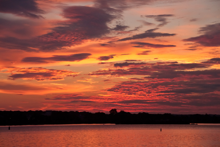 waterscapes: Colorful sunrise on the bay