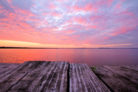 waterscapes: Sunrise from dockside