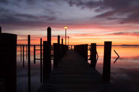 waterscapes: Twilight glow Stock Photo