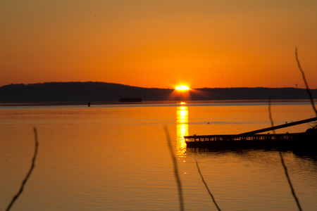 waterscapes: Golden sunrise reflected on the water