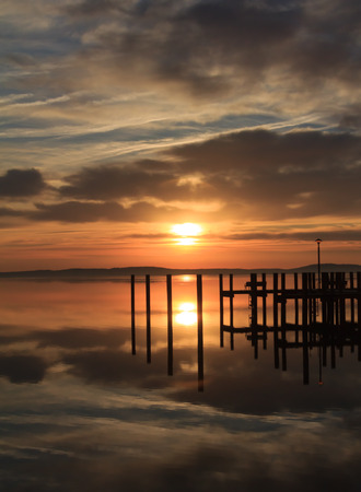 waterscapes: Dock in clouds